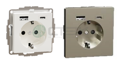 Розетки с USB серии Merten System M и Merten D-Life