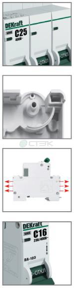 Автоматические выключатели серии ВА-103М DEKraft