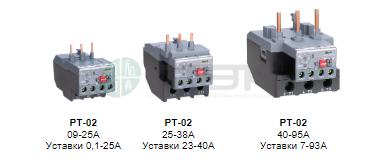 Защита двигателя - тепловое релеперегрузки DEKraft серии РТ-02
